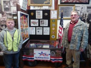 Walking Veteran induction ceremony with Thomas Hudson and Daniel Cox