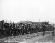 State Militia on Sunday March 28, 1909. During the Snake war at Henryetta, Oklahoma