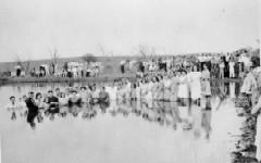 Kusa Pond Baptism. Henryetta, Oklahoma