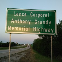 Lance Corporal Anthony Grundy Memorial Highway
